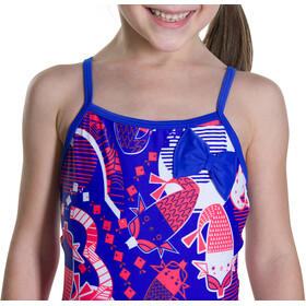 speedo Shellbell Bow Suit Kids Amparo Blue/Post It Pink